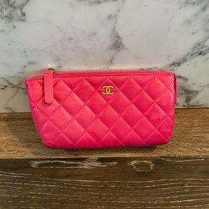 2016/17 Lambskin Quilted Cosmetic Bag